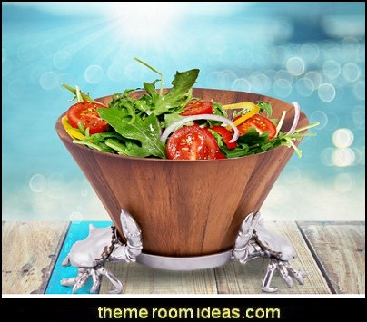 Coastal Crab Wood Salad Bowl