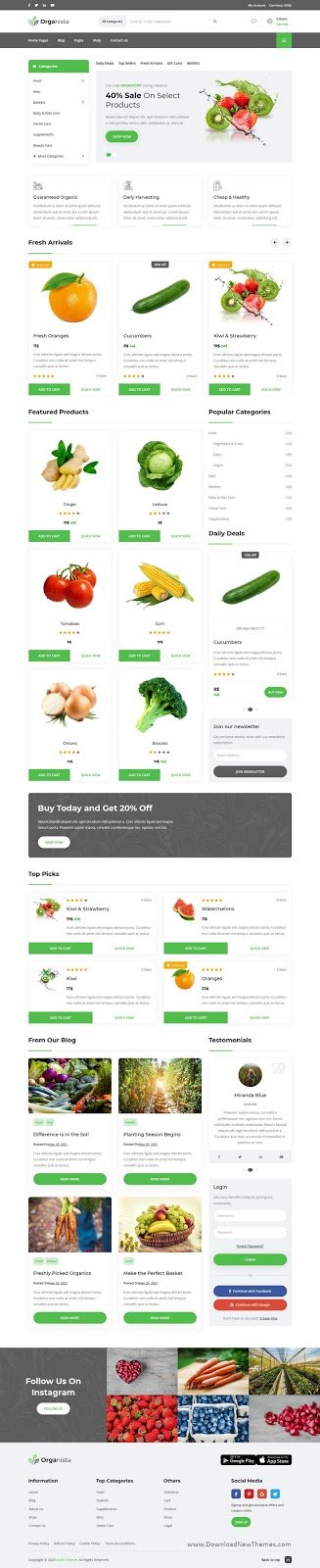 Download Organic Store Template