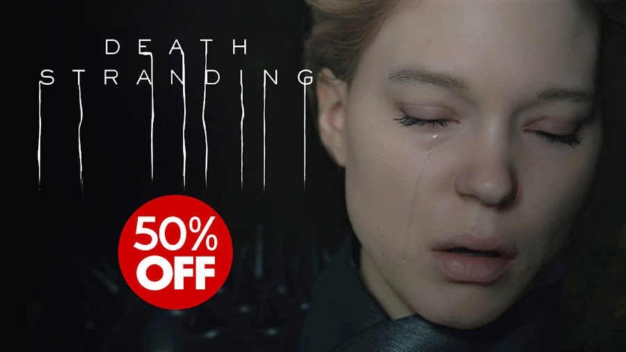 death stranding 50% discount amazon walmart ps4 open-world action strand game hideo kojima productions 505 games