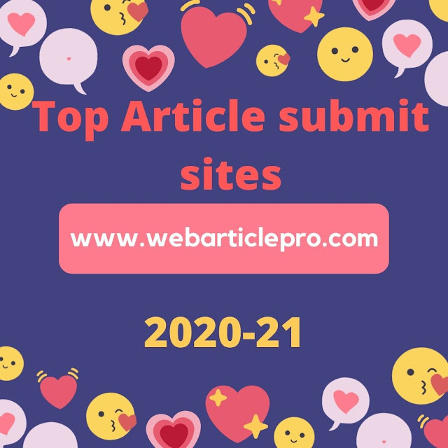 High DA Free Article Submission Sites List for 2020