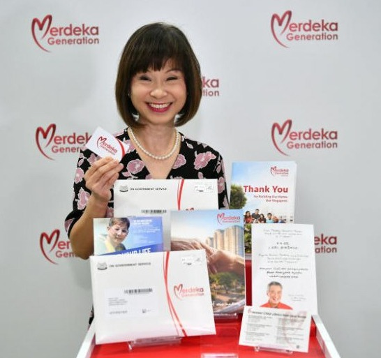 The first batch of about 80,000 Merdeka Generation Package welcome folders will be available for collection at community events from June 2, Senior Minister of State for Health Amy Khor announced.