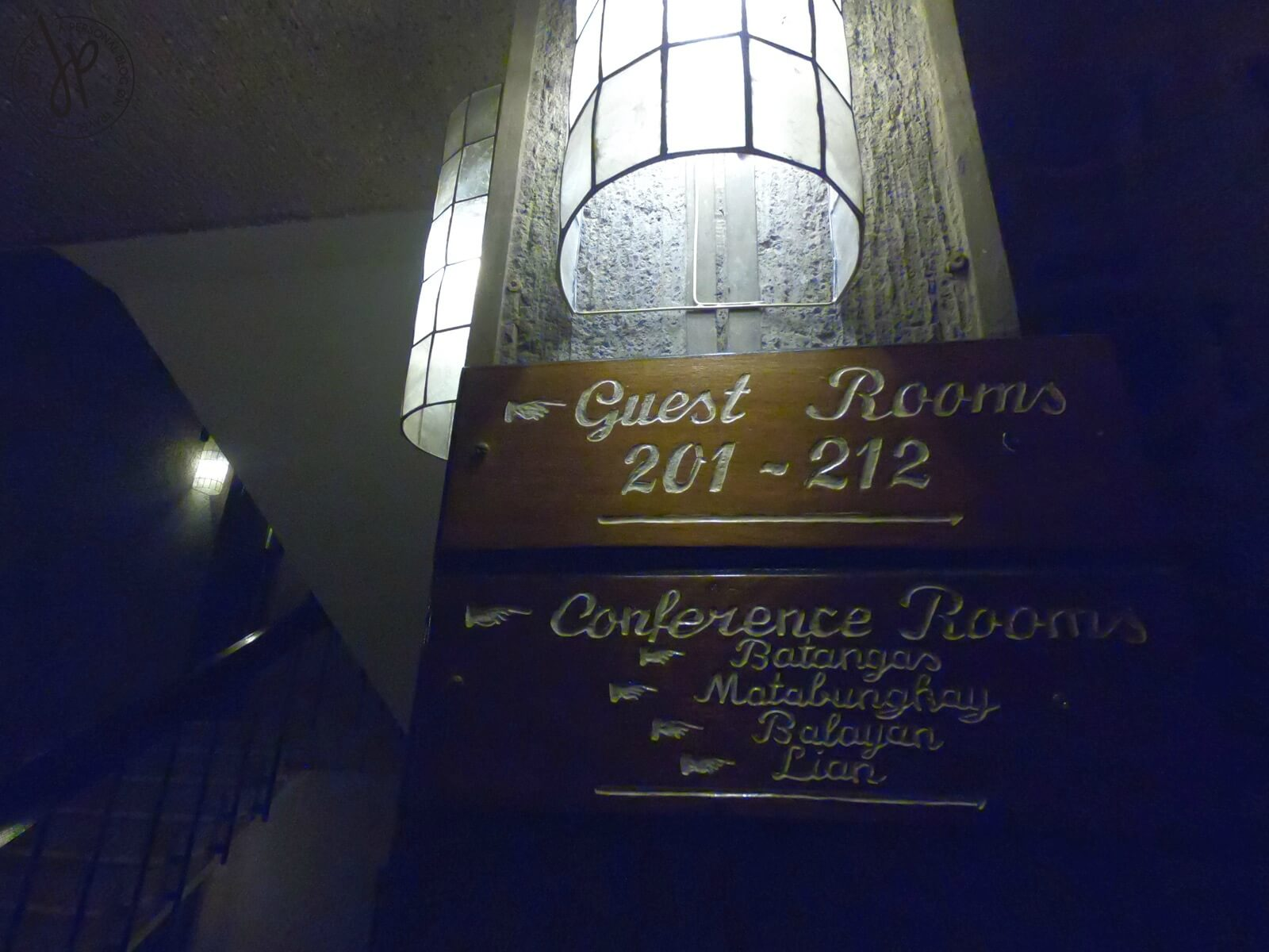 room signage, lamps