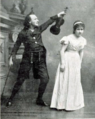 Dr. Miracle and Antonia in the 1881 premiere of Les contes d'Hoffmann
