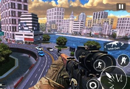 बन्दुक वाला गेम   ट्रैफिक स्निपर शूटर
