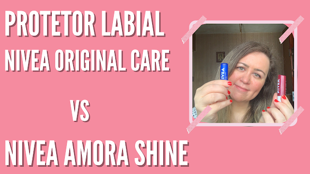 Duelo de protetor labial Nivea: Original Care vs Amora Shine