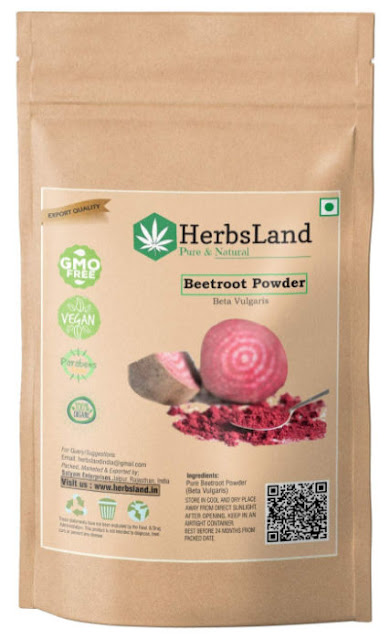HerbsLand Organic Beetroot Powder for Face Pack