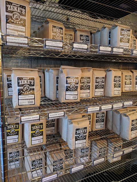 Pittsburgh Coffee Roasters: Bags of Zeke's Coffee Beans