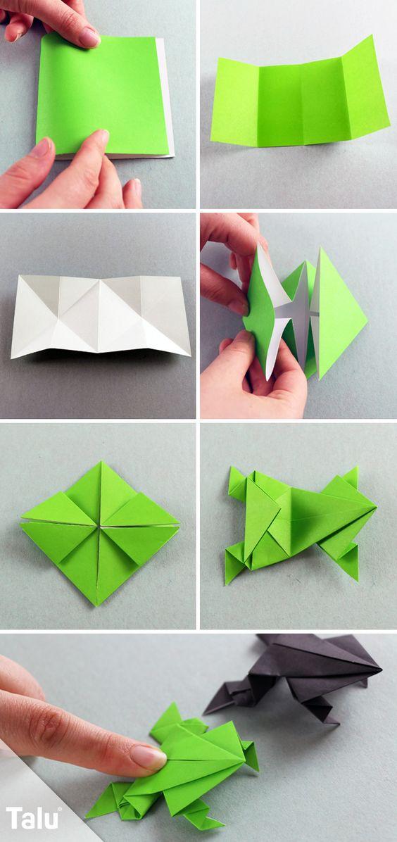 Kostenlose Anleitung - Origami Frosch falten
