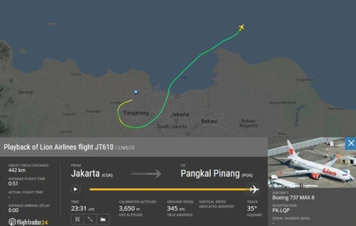 Indonesia: Volo Lion Air si schianta in mare con 188 passeggeri.