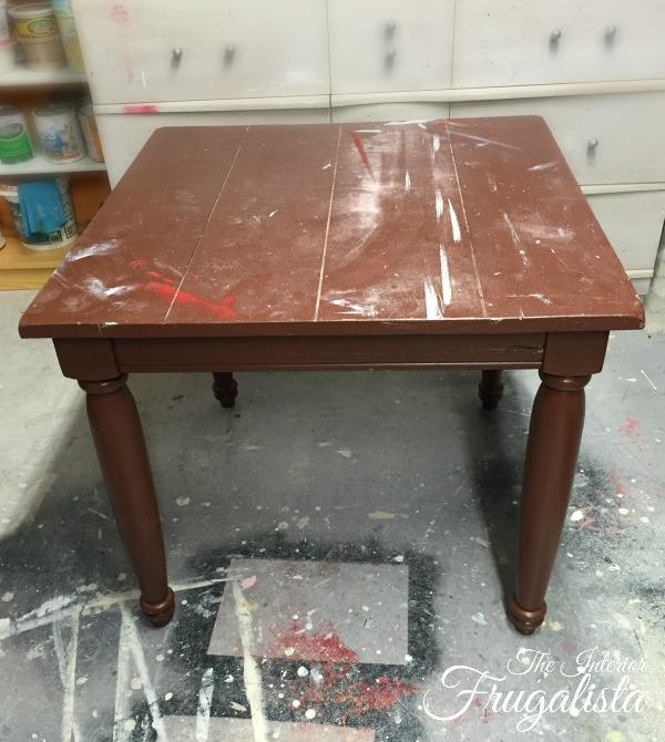 Farmhouse Side Table Before Makeover