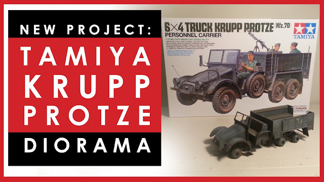 Tamiya Krupp Protze 1/35 scale light truck scale model