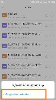 Cara extrak file Zip tanpa aplikasi