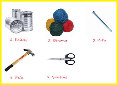 Daftar alat dan bahan untuk membuat telepon kaleng