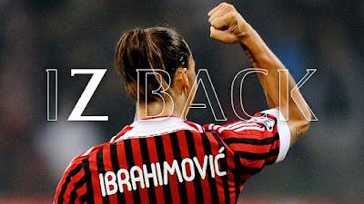 #IZBACK è l'hashtag lanciato dal club rossonero per festeggiare il ritorno dell'attaccante svedese