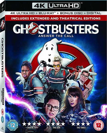 Ghostbusters EXTENDED 4K (Cazafantasmas 4K) (2016) 2160p 4K UltraHD HDR BluRay REMUX 50GB mkv Dual Audio DTS-HD 5.1 ch