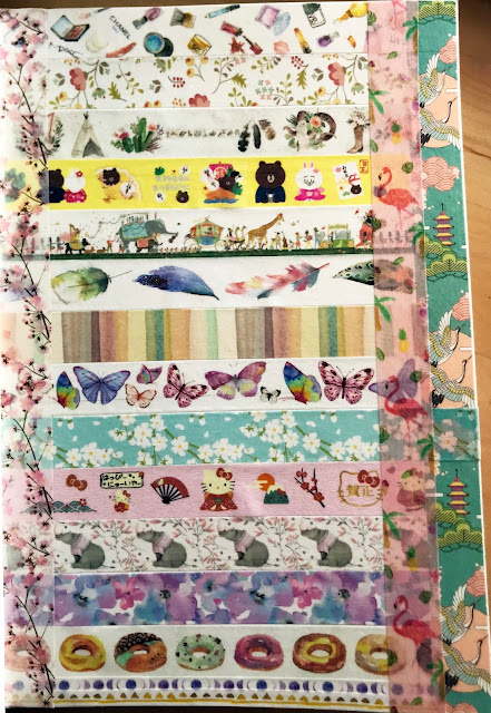 Japanese washi tape page in my art journal
