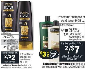 L'Oreal & Tresemme CVS Deal $0.50 84-810