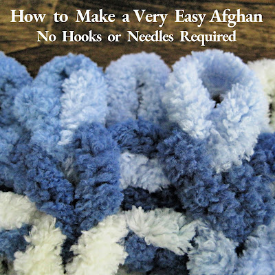 Almost anyone can make a loop yarn afghan! No needles or hooks are required. All you need are your fingers and small scissors.