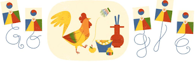 Lunar New Year, Korean New Year, the year of the Rooster, Google doodle,