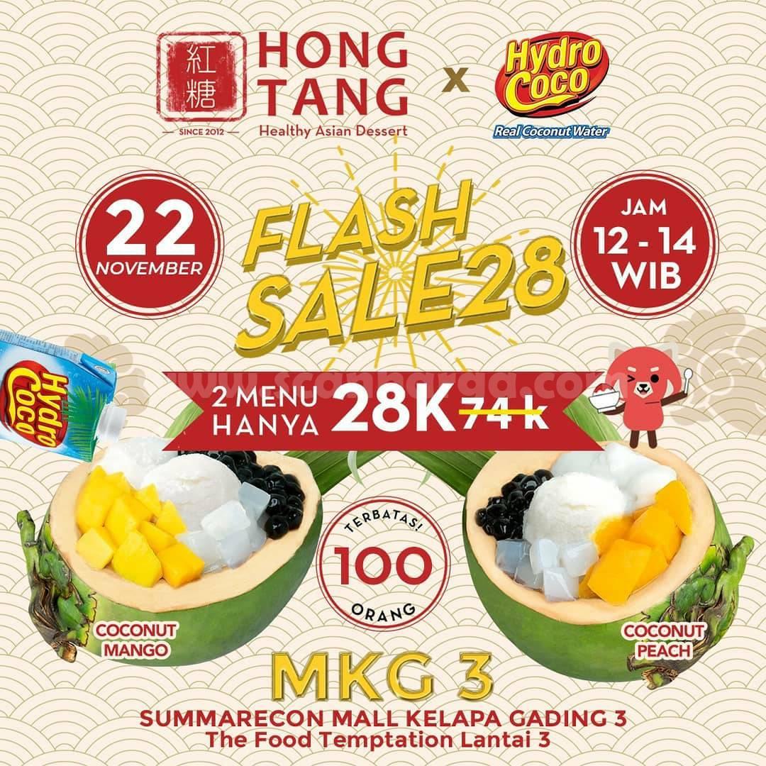 Promo Hong Tang Summarecon Mall Kelapa Gading FLASH SALE 28: 2 Menu hanya 28K