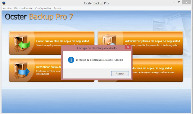 Ocster Backup Pro v7.10 Final Español 2013