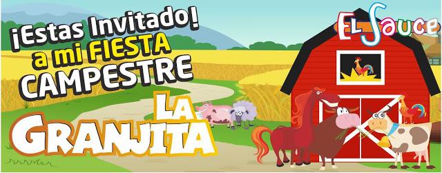 Invitacion digital granero paquetes fiesta cumpleaños Bogota