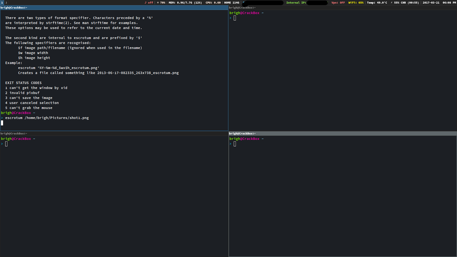 NuxView: i3WM: Populate Workspace with Terminals