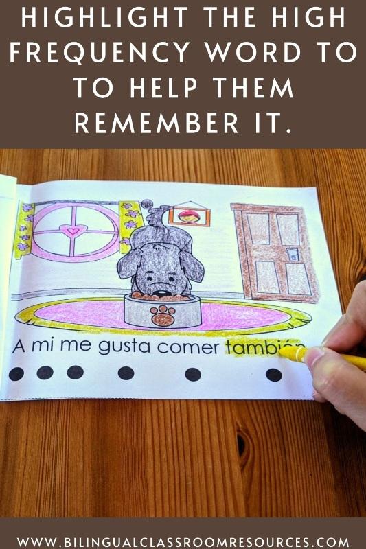 Spanish High Frequency Words, Spanish Emergent Reader