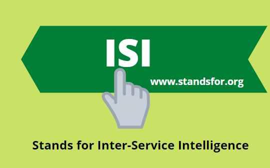ISI-Inter -Service Intelligence