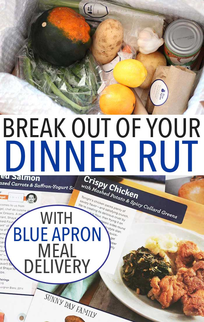 Struggling with meal planning? Are you stuck making the same boring recipes over and over again? Try Blue Apron meal delivery for fresh, easy to make meals delivered right to your doorstep! Let them to the work of shopping and planning and you enjoy fresh delicious dinners. Try it for free today! (sponsored)
