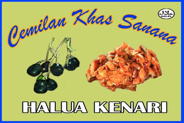 Mendesain Label Produk Cemilan Khas Sanana (Halua Kenari)