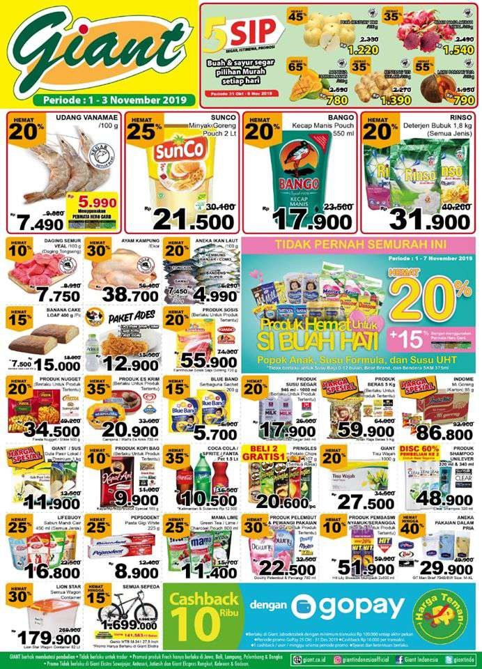 Katalog Promo Giant Weekend 8 10 November 2019