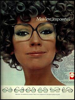 propaganda armação de oculos Bausch & Lomb - 1978; óculos anos 70; moda anos 70; propaganda anos 70; história da década de 70; reclames anos 70; brazil in the 70s; Oswaldo Hernandez