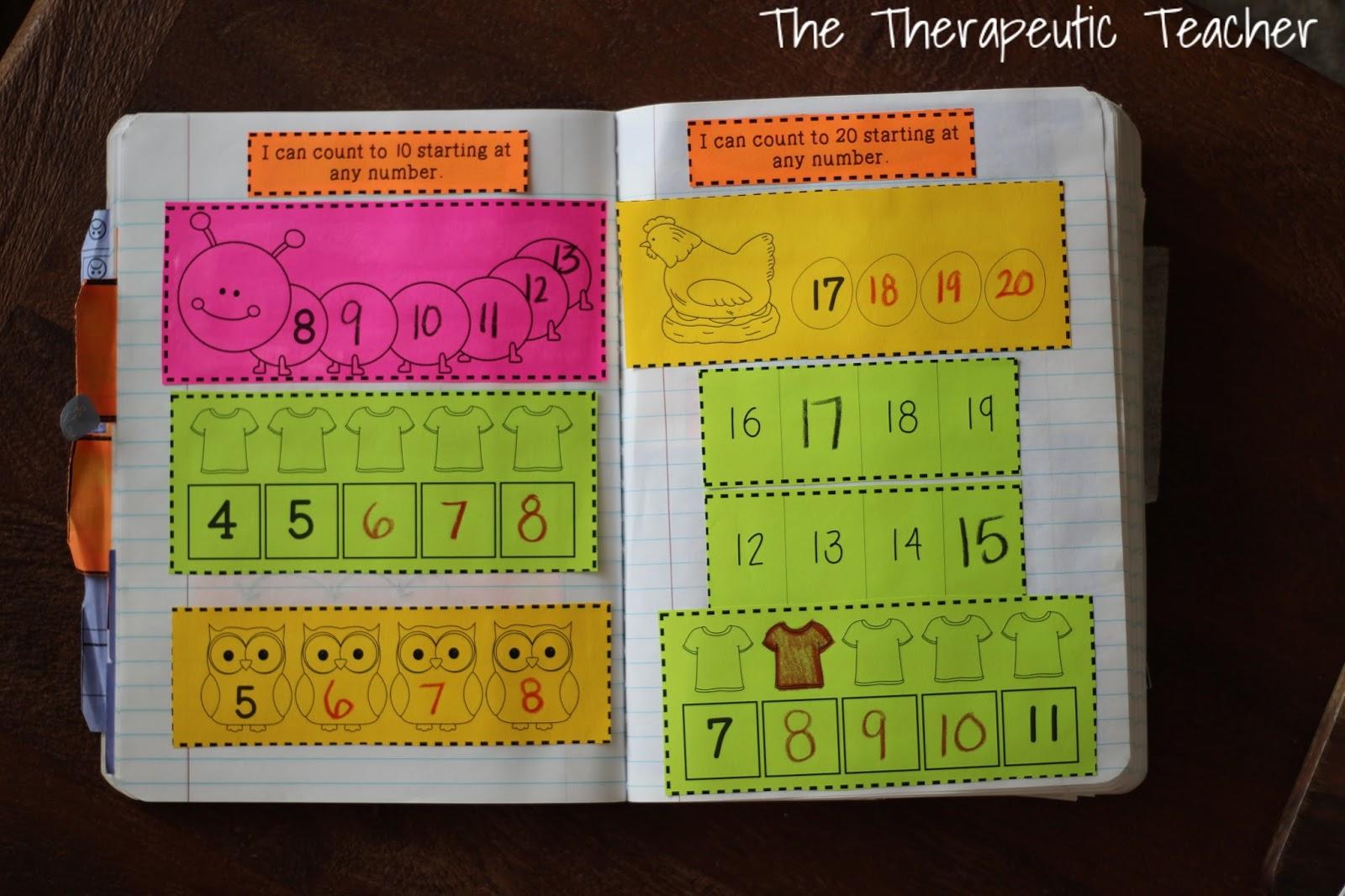 Kindergarten Interactive Math Journals Part One