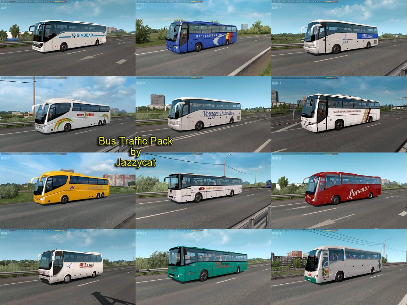 Sinagrit Baba's Workshop: ETS 2 - Bus Traffic Pack v7 2 by