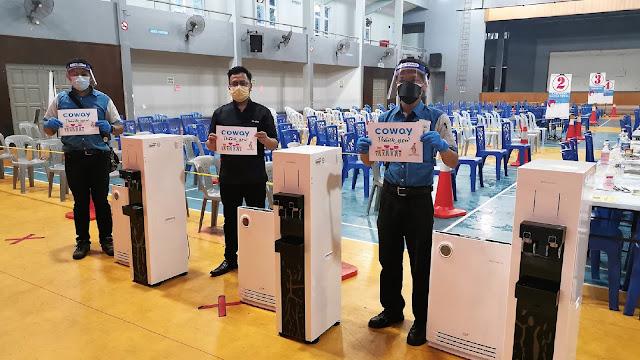 Coway Berdiri Teguh Seiringan Menyokong Usaha Imunisasi Kerajaan Dengan Sumbangan Lebih Daripada 101 Penulen Udara Ke Pusat Pemberian Vaksin Mega