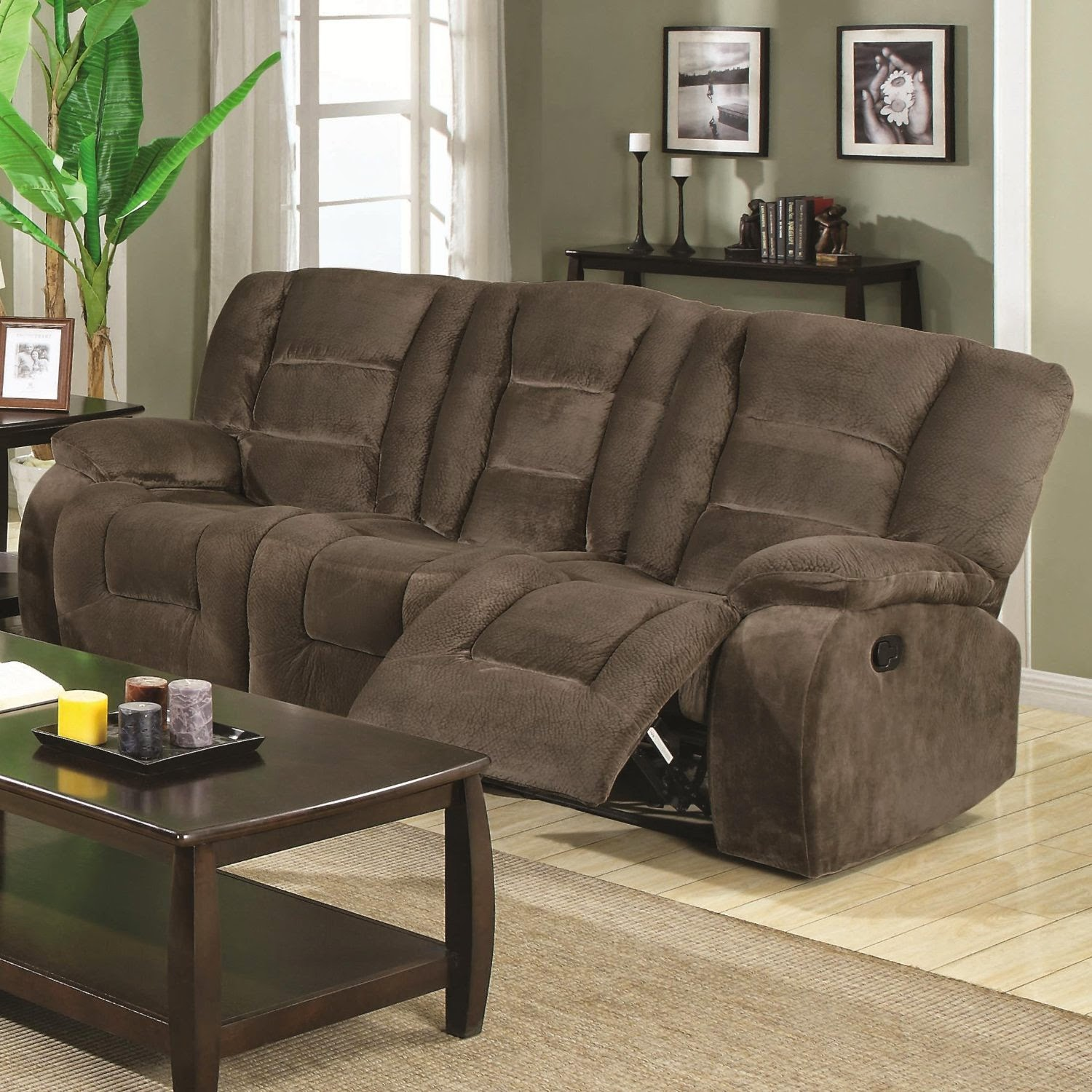 Coaster Home Brown Siegefabric Recliner Sofas