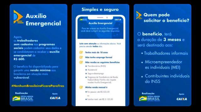 Pagamento do auxílio emergencial de R$ 600;veja como site e aplicativo