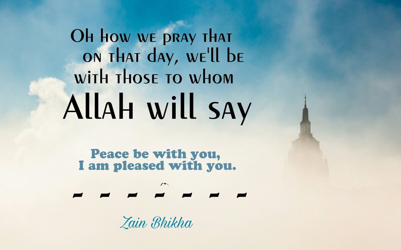 Islamic Quote Peace Be With You I Am Pleased With You