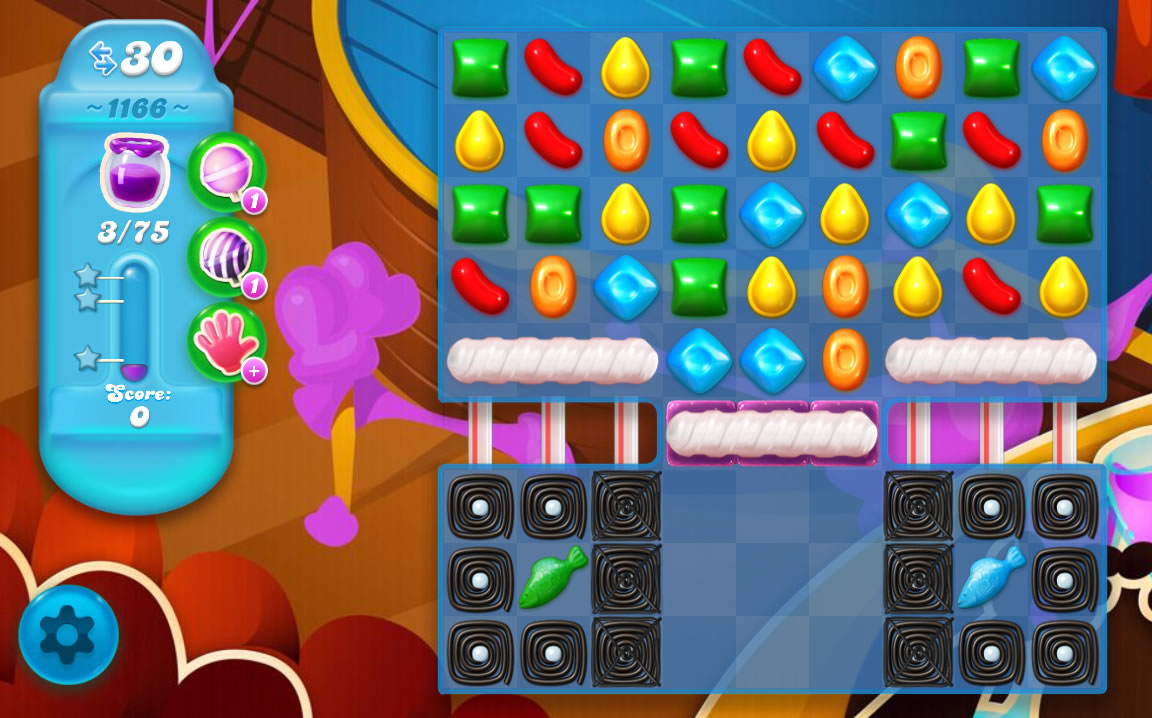 Candy Crush Soda Saga level 1166