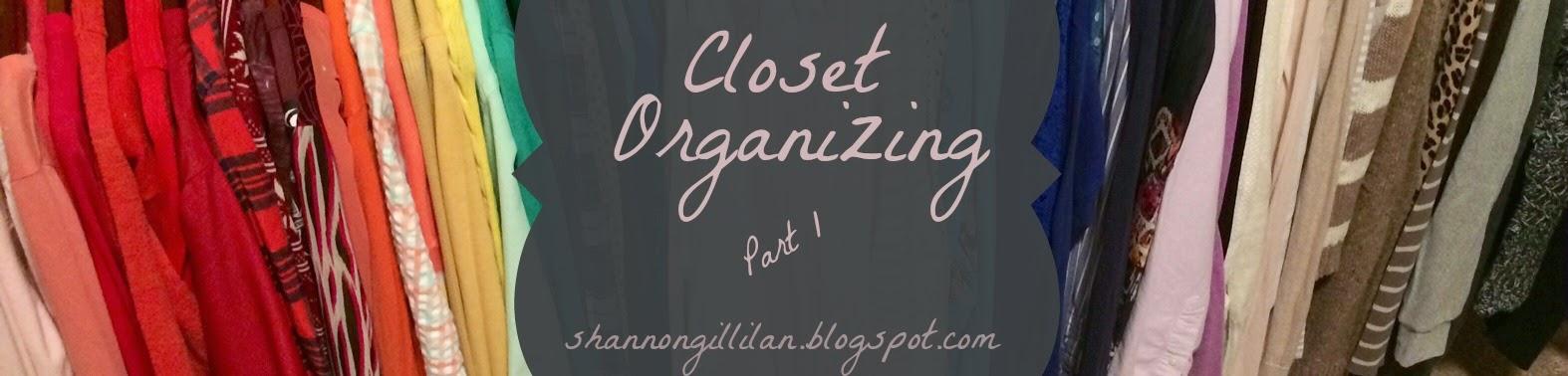 Closet Organizing www.shannongillilan.blogspot.com