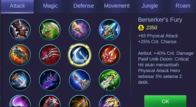 Build Ling Mobile Legends 1