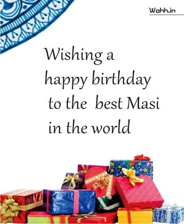 Happy Birthday Wishes For Mausi In English