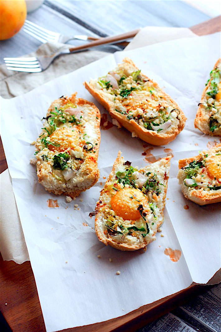 Healthy Veggie Stuffed Baked Egg Boats