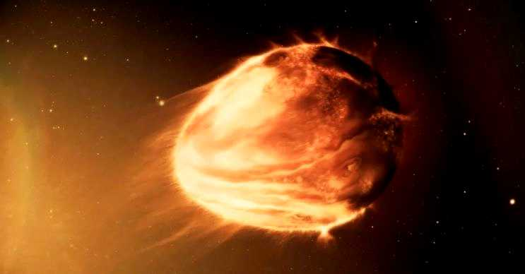 WASP-12b yumurta biçimindedir, bu gezegen yaklaşık 10 milyon sonra yok olacak.