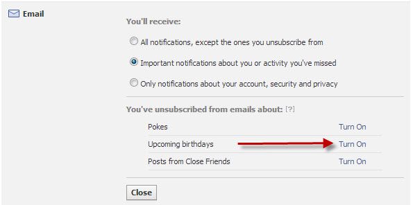 Turn On Birthday Notifications In Facebook