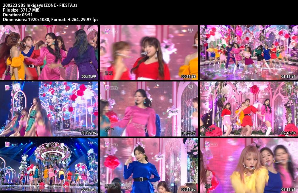Inkigayo , IZONE ,FIESTA, 1080p , Kpop, 2020