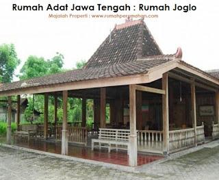 Desain Bentuk Rumah Adat Jawa Tengah dan Penjelasannya, Gambar Rumah Joglo