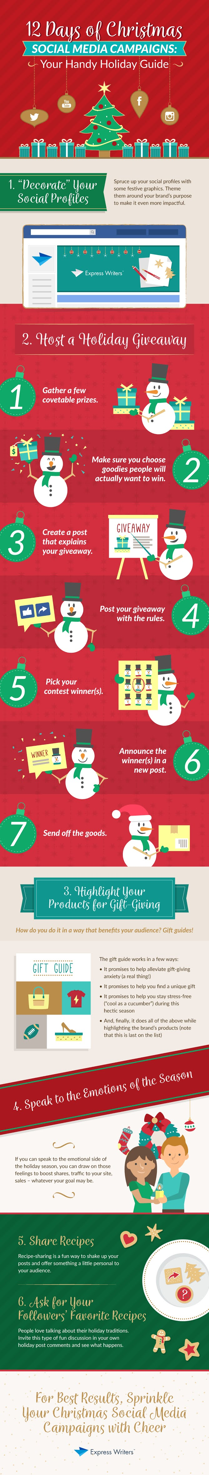 12 Days of Christmas Social Media Campaigns: Your Handy Holiday Guide #infographic #Christmas #Social Media #infographics #Holiday Guide #Christmas Social Media Campaigns