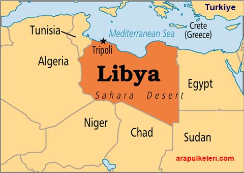 Libya nerede bulunuyor. Libya haritada